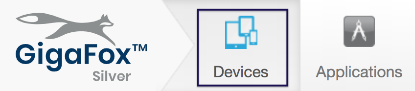 Devices section on the UI